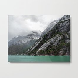 Gray Stone Mountain Metal Print