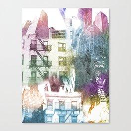 N.Y. collage color burst Canvas Print