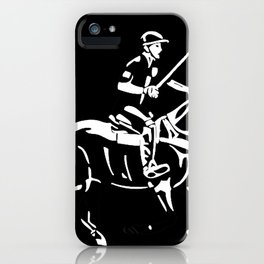 Polo pony and rider iPhone Case