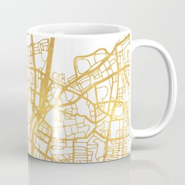 TEL AVIV ISRAEL CITY STREET MAP ART Coffee Mug