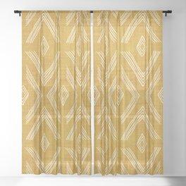 Birch in Gold Sheer Curtain