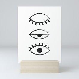 off and on Mini Art Print