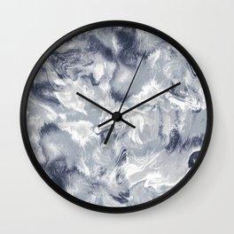 Marble Mist Cool Grey Wall Clock