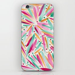 Summer Vibes in stripes and dots iPhone Skin