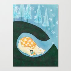 Hibernating Together Canvas Print