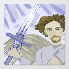 Clashing of Swords Canvas Print