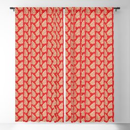 Christmas Tree Cakes Pattern - Red Blackout Curtain