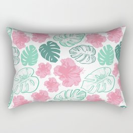 Beautiful Tropical Print Rectangular Pillow