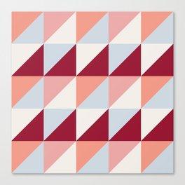 Trio (maroon) Canvas Print