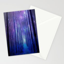 Fantasy Path Purple Blue Stationery Cards