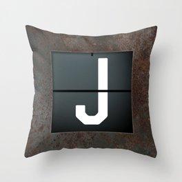 monogram schedule j Throw Pillow