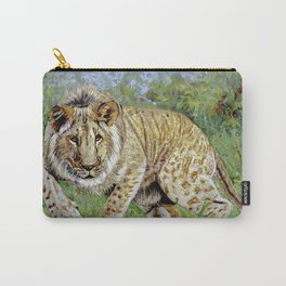 Lion oil painting Carry-All Pouch