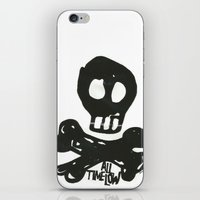 all time low iPhone & iPod Skins featuring All Time Low Skull and Cross Bones by Kelsey