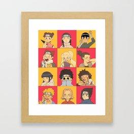 Konoha 12 Kids Framed Art Print