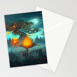 Magical lights Stationery Cards