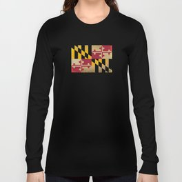 Maryland State Flag VINTAGE Long Sleeve T-shirt