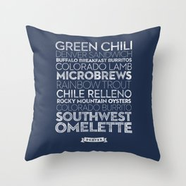 Denver — Delicious City Prints Throw Pillow