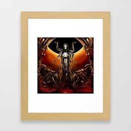 Black Sun Rising Framed Art Print