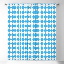 Blue Sky Modern Diamond Pattern Blackout Curtain