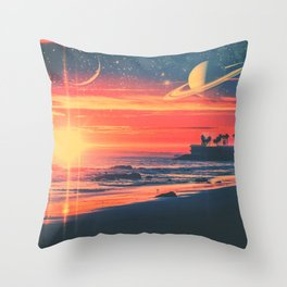 A Fax From the Beach Throw Pillow