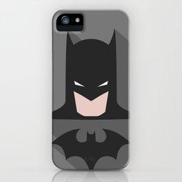 Comic Bat Vigilante Minimal iPhone Case