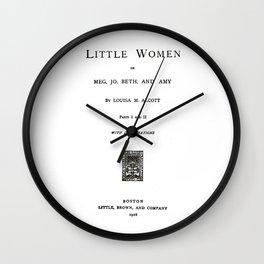Little Women Louisa May Alcott Title Page Wall Clock