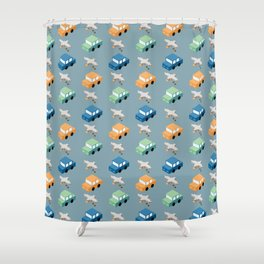 Crappy Commute Shower Curtain
