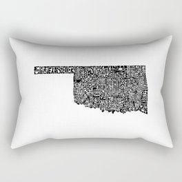 Typographic Oklahoma Rectangular Pillow
