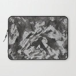 Black Ink on White Background Laptop Sleeve