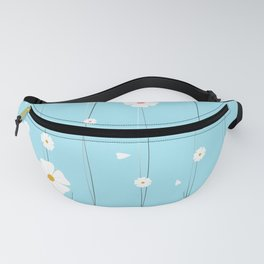 Classic White Daisy with String Fanny Pack