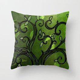 LEAVE - Summer Green Throw Pillow