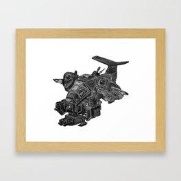 Thundering Storm Framed Art Print