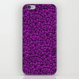 Dazzling Violet Vintage Flowers iPhone Skin