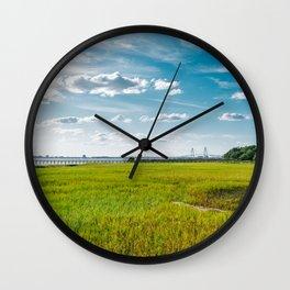 Charleston's Pitt Street Bridge IV Wall Clock