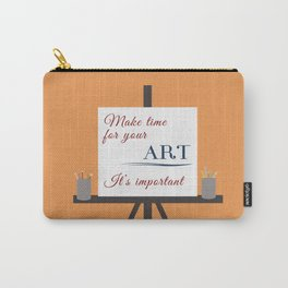 Make Time For Art (Colorful Calligraphy) Carry-All Pouch