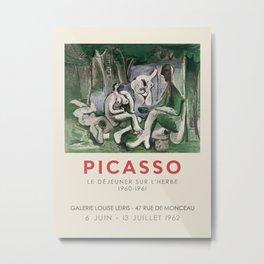 Pablo Picasso. Exhibition poster for Galerie Louise Leiris in Paris, 1963. Metal Print