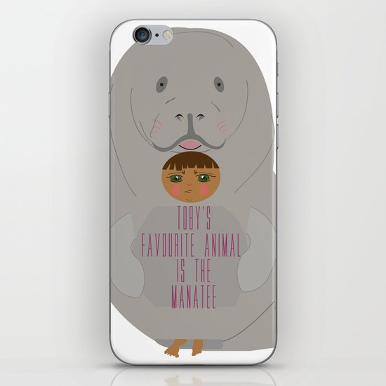 Toby as Manatee iPhone & iPod Skin