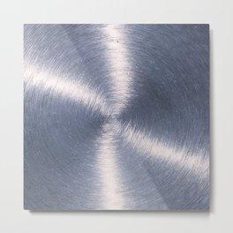 Silver Metallic Stainless Steel Pattern Metal Print