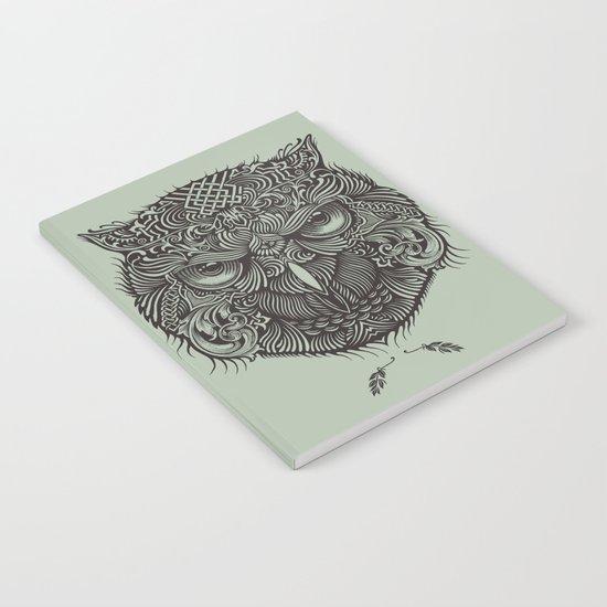 Warrior Owl Face Notebook