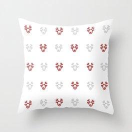 Reindeer Pattern! Throw Pillow