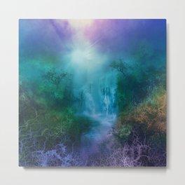 purple forest landscape Metal Print