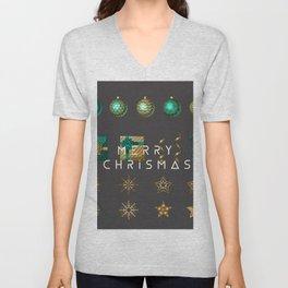 merry chrismas Unisex V-Neck