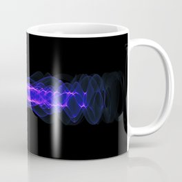 Plasma or high energy force concept. Blue-purple glowing energy waves on black Coffee Mug