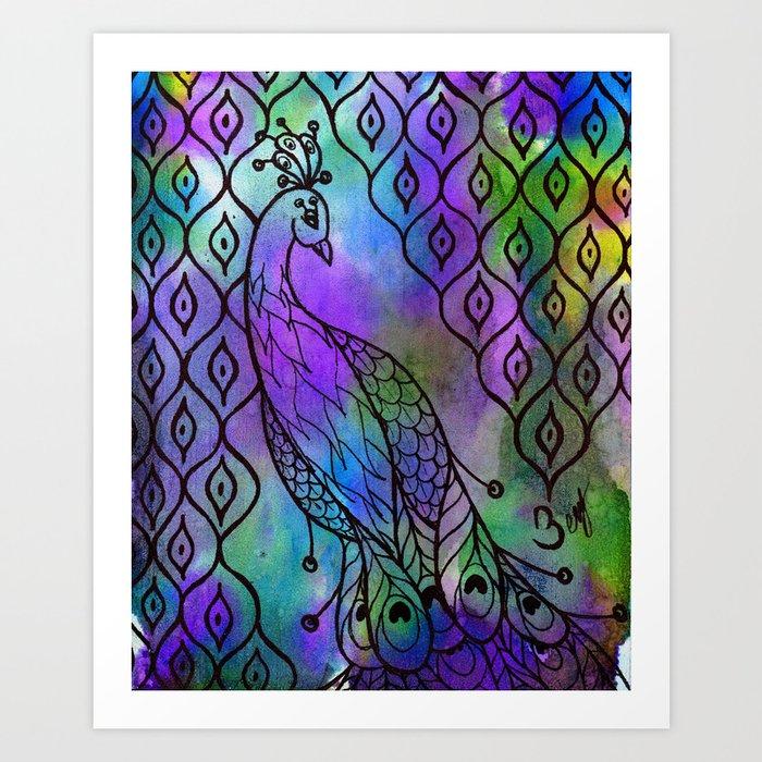 Zenspired Peacock Art Print