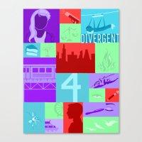 divergent Canvas Prints featuring Divergent Collage by Anthony M. Sennett