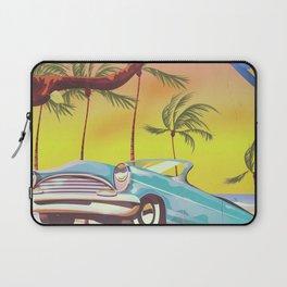 Destin Florida USA vintage style travel poster Laptop Sleeve