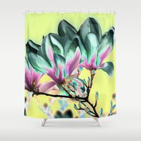 popart Shower Curtains featuring MAGNOLIA - PopArt by CAPTAINSILVA