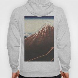 Rainstorm at the foot of the mountain - Katsushika Hokusai (1829-1833) Hoody