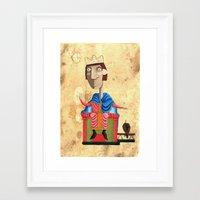 federico babina Framed Art Prints featuring Ritratto di Federico II - L'Epoca di Federico II by Francesca Cosanti