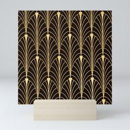 Sophisticated Glitzy Gold Art Deco Pattern Mini Art Print